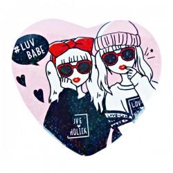 Luv Babe Heart Button Badge