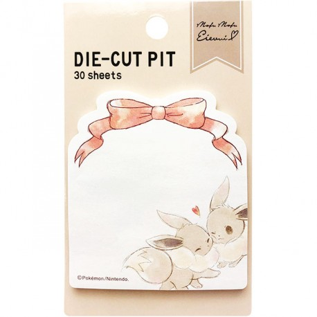 Mofu Mofu Eevee Bow Die-Cut Pit Sticky Notes