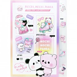 Mochi Panda Pink Index File Folder