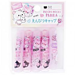 Mochi Panda Pink Pencil Caps