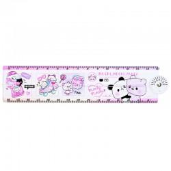 Mochi Panda Pink Folding Ruler