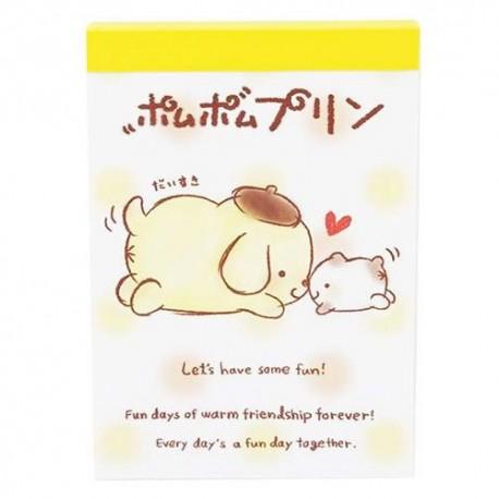 PomPom Purin Buddy Mini Memo Pad