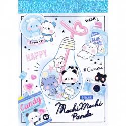 Mini Bloco Notas Mochi Panda Blue
