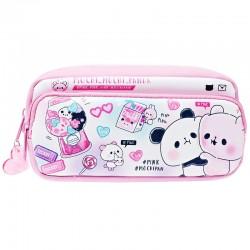 Estojo Mochi Panda Pink 2-Pocket