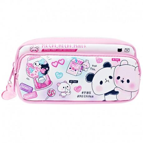 Mochi Panda Pink 2-Pocket Pen Pouch