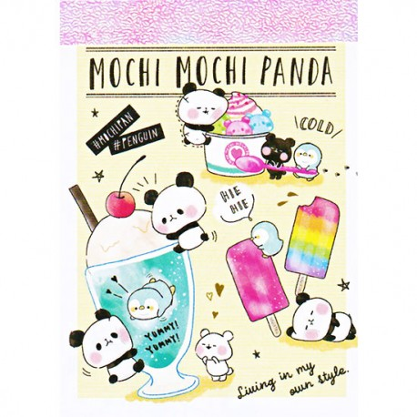Mini Bloc Notas Mochi Panda & Penguin