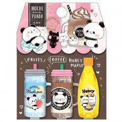 Tampas Lápis Mochi Panda Cafe Coffee