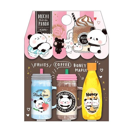Mochi Panda Cafe Coffee Pencil Caps