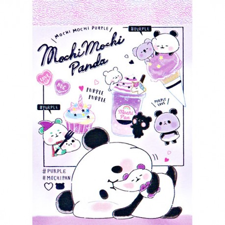 Mini Bloco Notas Mochi Panda Purple