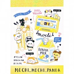 Mini Bloco Notas Mochi Panda Yellow