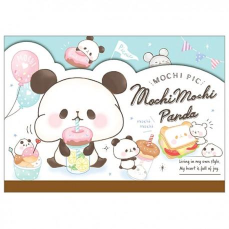 Bloco Notas Die-Cut Mochi Panda Donuts