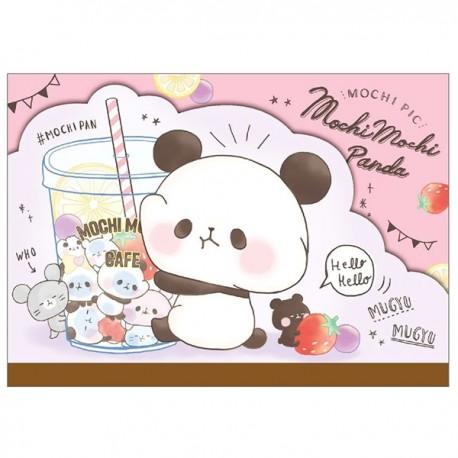 Bloco Notas Die-Cut Mochi Panda Bubble Tea