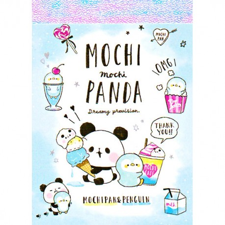 Mini Bloco Notas Mochi Panda & Penguin Dreamy