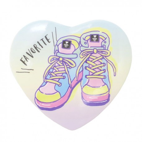 Favorite Sneakers Heart Button Badge