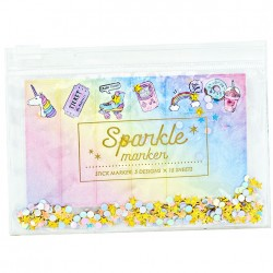 Sparkle Marker Retro Sticky Notes