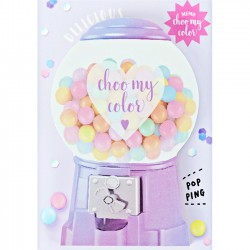 Bloco Notas Die-Cut Choo My Color Candy Machine