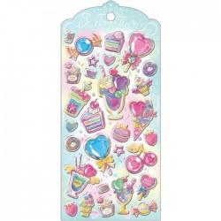 Pegatinas Jewelry Tiara Sweets