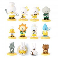 Figura Mr. White Cloud Fluffy Cafe Mini Series 3