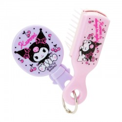 Kuromi Mini Brush & Mirror Set