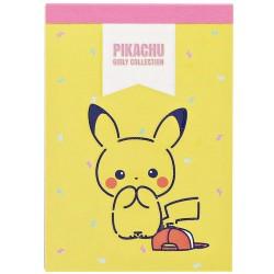 Pikachu Girly Collection Mini Memo Pad