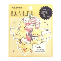Sticker Big Deco Pikachu Frappuccino