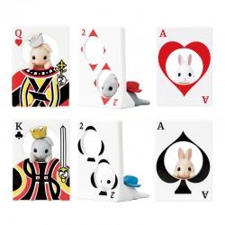 Miniaturas Rabbit Playing Cards Gashapon