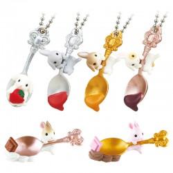 Miniaturas Spoon Rabbit Sweet Gashapon