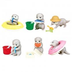 Miniaturas Kawauso Otter Water Play Gashapon