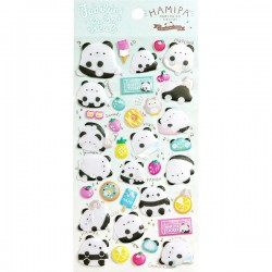 Hamipa Funi Funi Prism Puffy Stickers