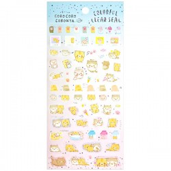 Corocoro Coronya Colorful Clear Stickers