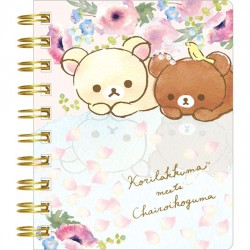 Korilakkuma Meets Chairoikoguma Floral Mini Notebook