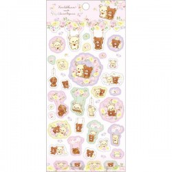 Korilakkuma Meets Chairoikoguma Swing Stickers