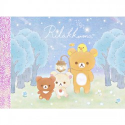 Chairoikoguma Starry Night Forest Mini Memo Pad
