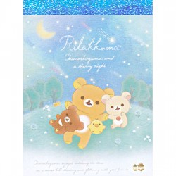 Chairoikoguma Starry Night Moonlight Mini Memo Pad