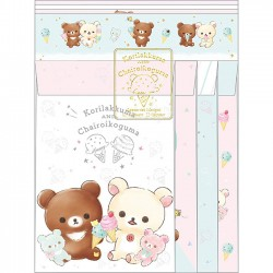 Korilakkuma Happy Ice Cream Letter Set
