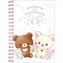 Korilakkuma Happy Ice Cream B6 Notebook