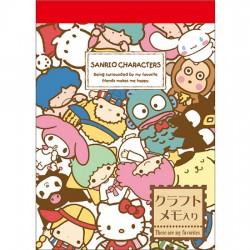 Mini Bloco Notas Sanrio Characters