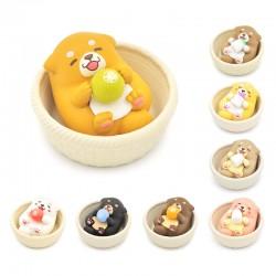 Miniaturas Mochi Shiba Basket Gashapon