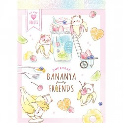 Bananya Fruity Friends Mini Memo Pad