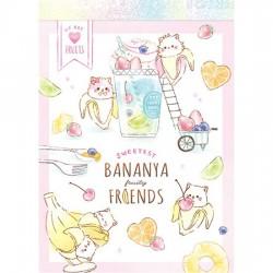 Mini Bloco Notas Bananya Fruity Friends