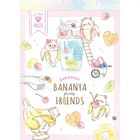 Mini Bloc Notas Bananya Fruity Friends
