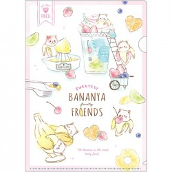 Bananya Fruity Friends File Folder