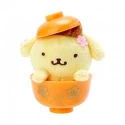 Sakura Bowl Pompom Purin Mini Plush