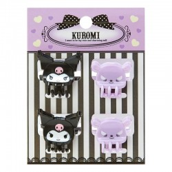 Kuromi Mini Hair Clips Set