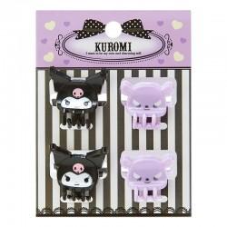 Set Mini Pinzas Cabello Kuromi