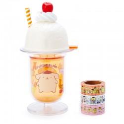 Ice Cream Sundae Pompom Purin Washi Tapes Set