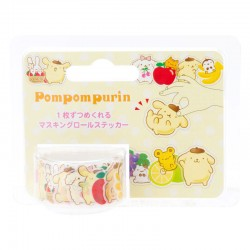 Pompom Purin Fruits Peel-Off Washi Tape