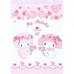 Bloco Notas My Melody & Sweet Piano Spring Flowers