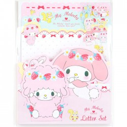 Set Cartas Die-Cut My Melody & Piano Strawberry Party