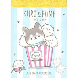 Mini Bloc Notas Kuro & Pome Popcorn